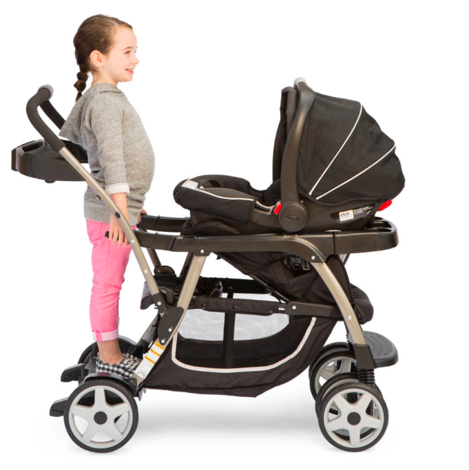 Coche Graco Ready2grow Click Connect Stand Amp Ride Onyx